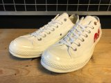 【32133-2038】converse × PLAY COMME des GARCONS CDG CHUCK TAYLOR (ホワイト) USED
