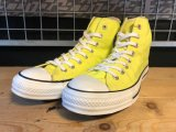 【32167-2057】converse ALL STAR HI (イエロー) USED