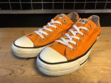 【32019-2065】converse ALL STAR OX (オレンジ) USED